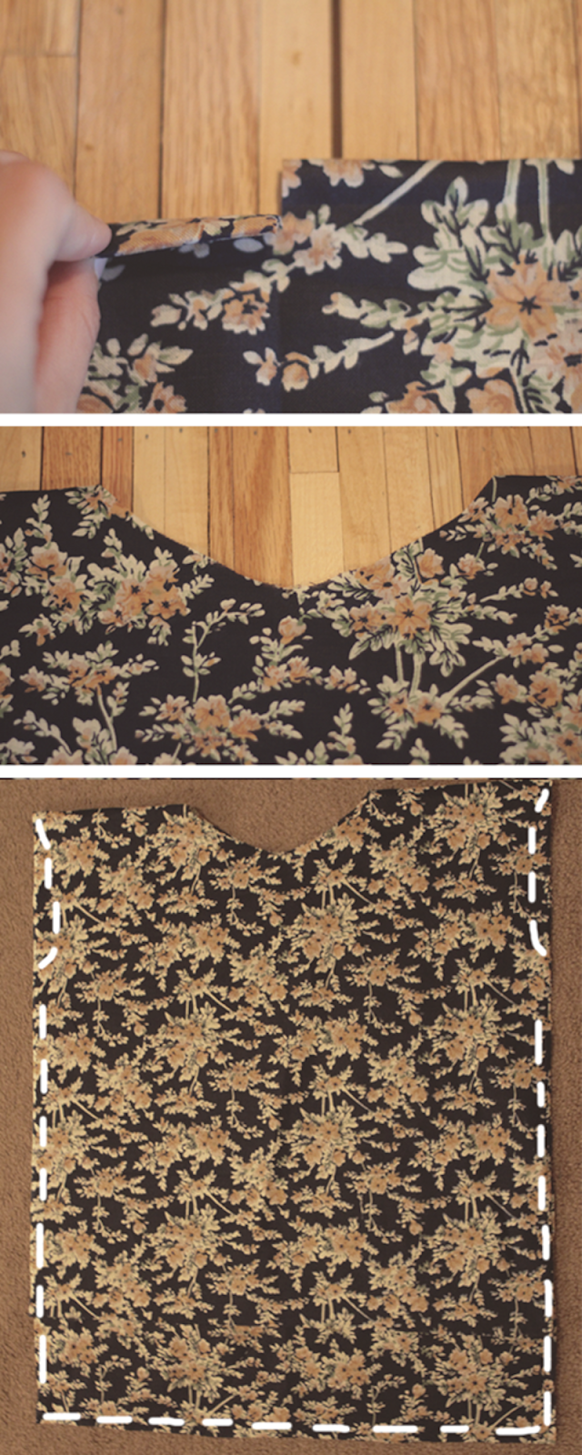 Always Rooney: Lace Collared Square Top DIY