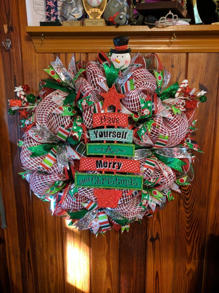 Have yourself a merry little christmas mesh wreath ambers wreaths have yourself a merry little christmas mesh wreath solutioingenieria Gallery