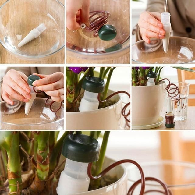 8 Pcs Lot Indoor Auto Drip Irrigation Watering System 400 x 300