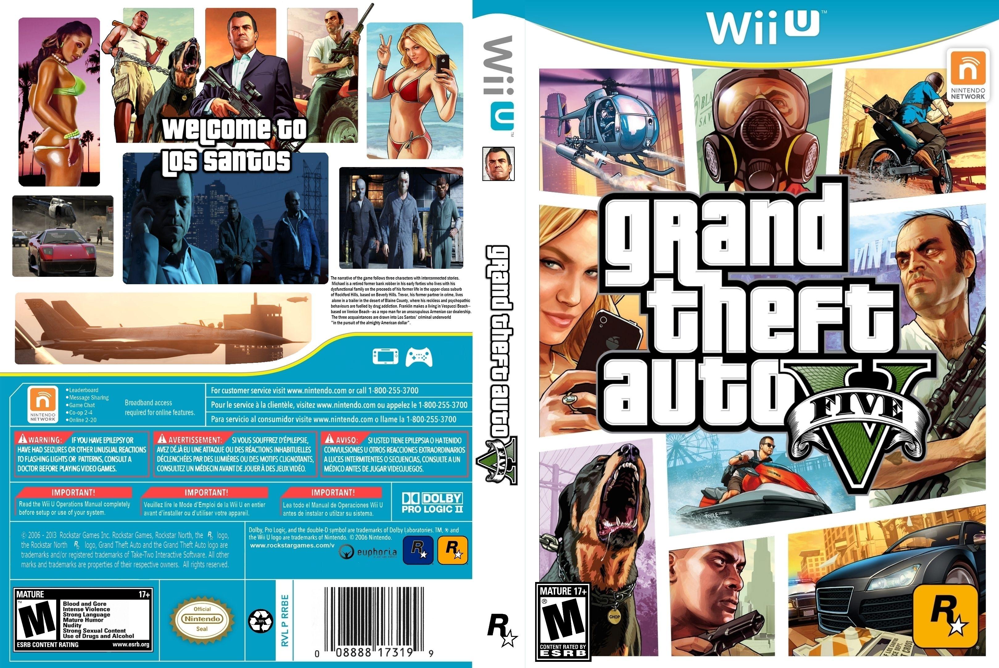 ba46f53b5f8ac4 GTA 5 Wii U Cover Art by Sen-goku.deviantart.com on  deviantART ...