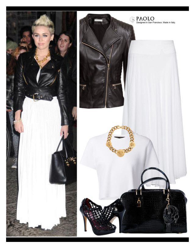 """""""Celebrity in PaoloShoes"""" by spenderellastyle ❤ liked on Polyvore featuring H&M, La Stampa, Proenza Schouler and Versace"""