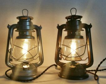 Large Lantern Lamp Electric Lantern Vintage by RecycledRevival ...