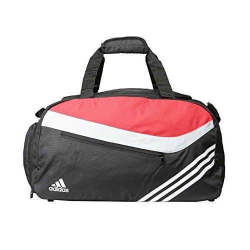Adidas Black and Red Polyester Duffle Bag   http   www ... 871c143e62