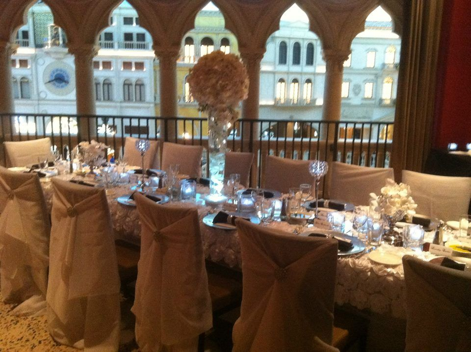 Our Beautiful Wedding Reception At The Cetto Venetian Table Decor Provided By Red