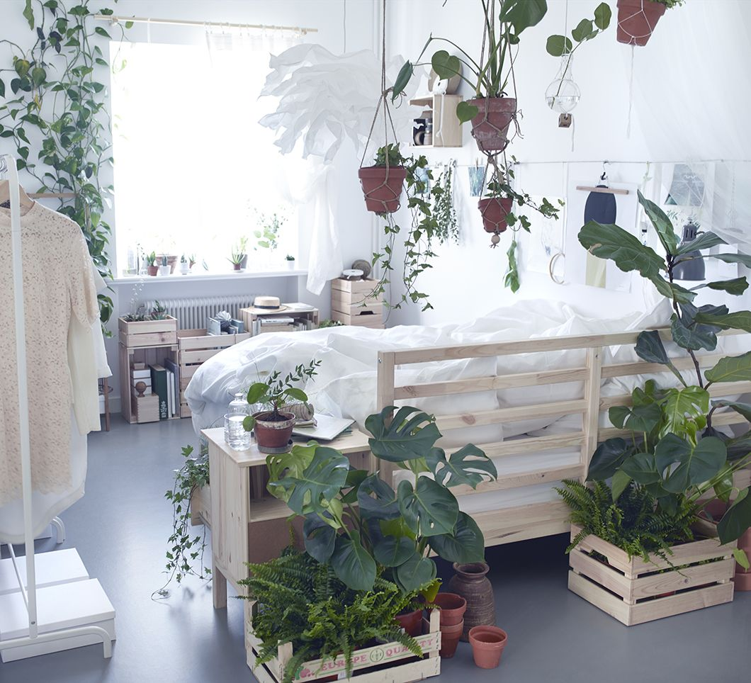 White Plant Filled IKEA Bedroom Follow Gravity Home: Blog
