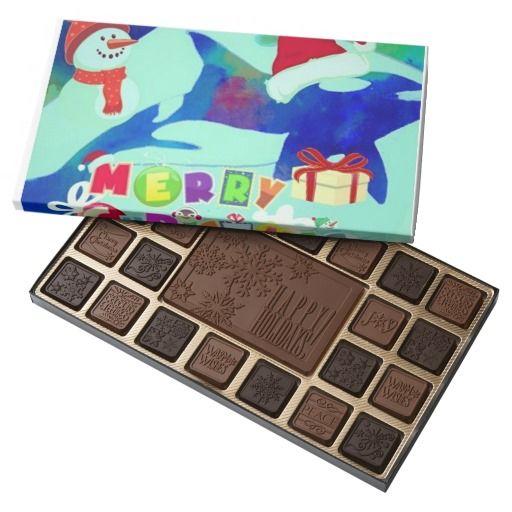 Santa Killer Whale Happy Holiday Chocolate Box