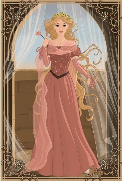 Medieval Princess Rapunzel.