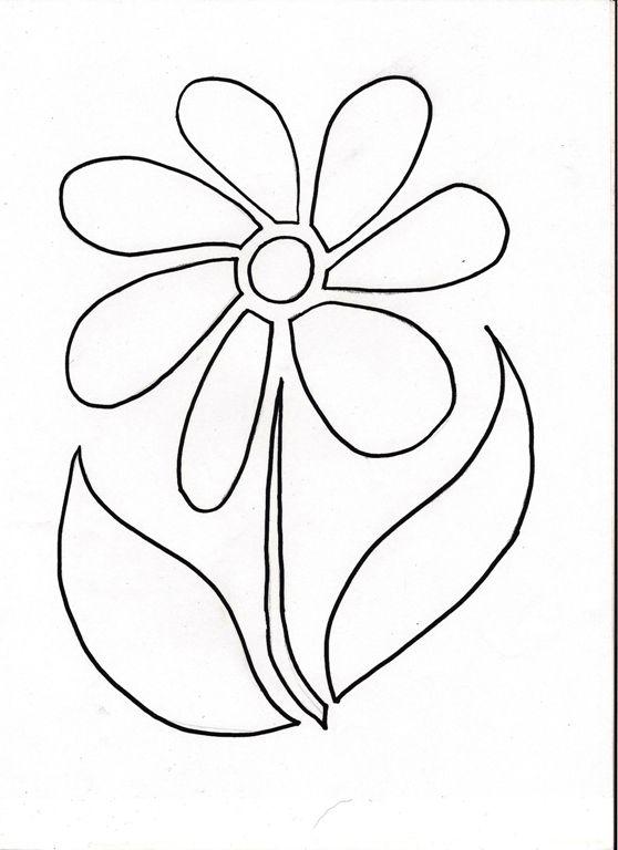 flower stencil - Free Kids Stencils