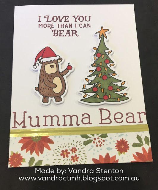 vandras virtual ctmh craftroom beary christmas ctmh australasian blog hop - Virtual Christmas Cards