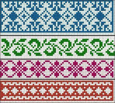 Fine fair isle border | Fair Isle / Norwegian / Icelandic Charts ...