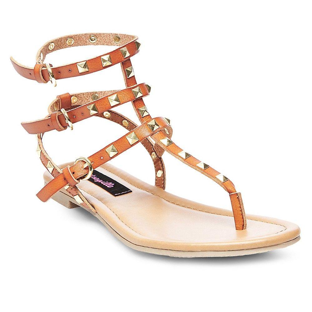 f1891976302 Betseyville Women s Gladiator Sandals - Cognac (Red)