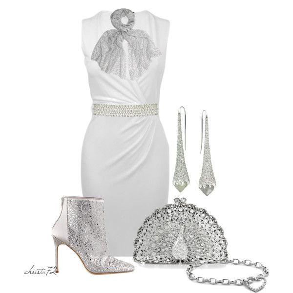 Silver Peacock - Polyvore