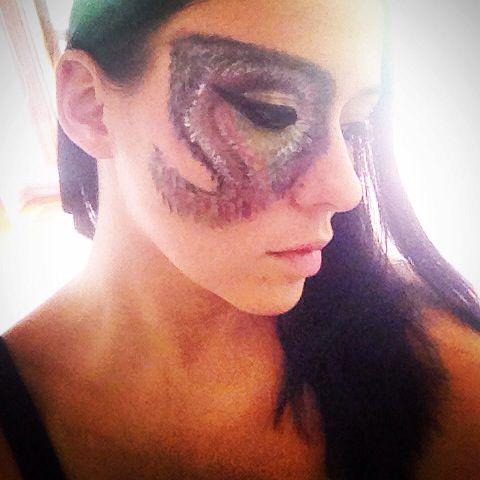 Butterfly makeup!