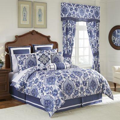 Croscill C Leland California King Comforter Set In Navy King Comforter Sets Blue Comforter Sets Comforter Sets