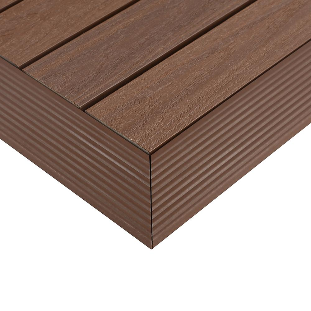 Newtechwood 1 6 Ft X 1 Ft Quick Deck Composite Deck Tile Outside Corner Trim In Brazilian Ipe 2 Pieces Box Qd Of Ip Composite Decking Deck Tile Wall Floor Tiles