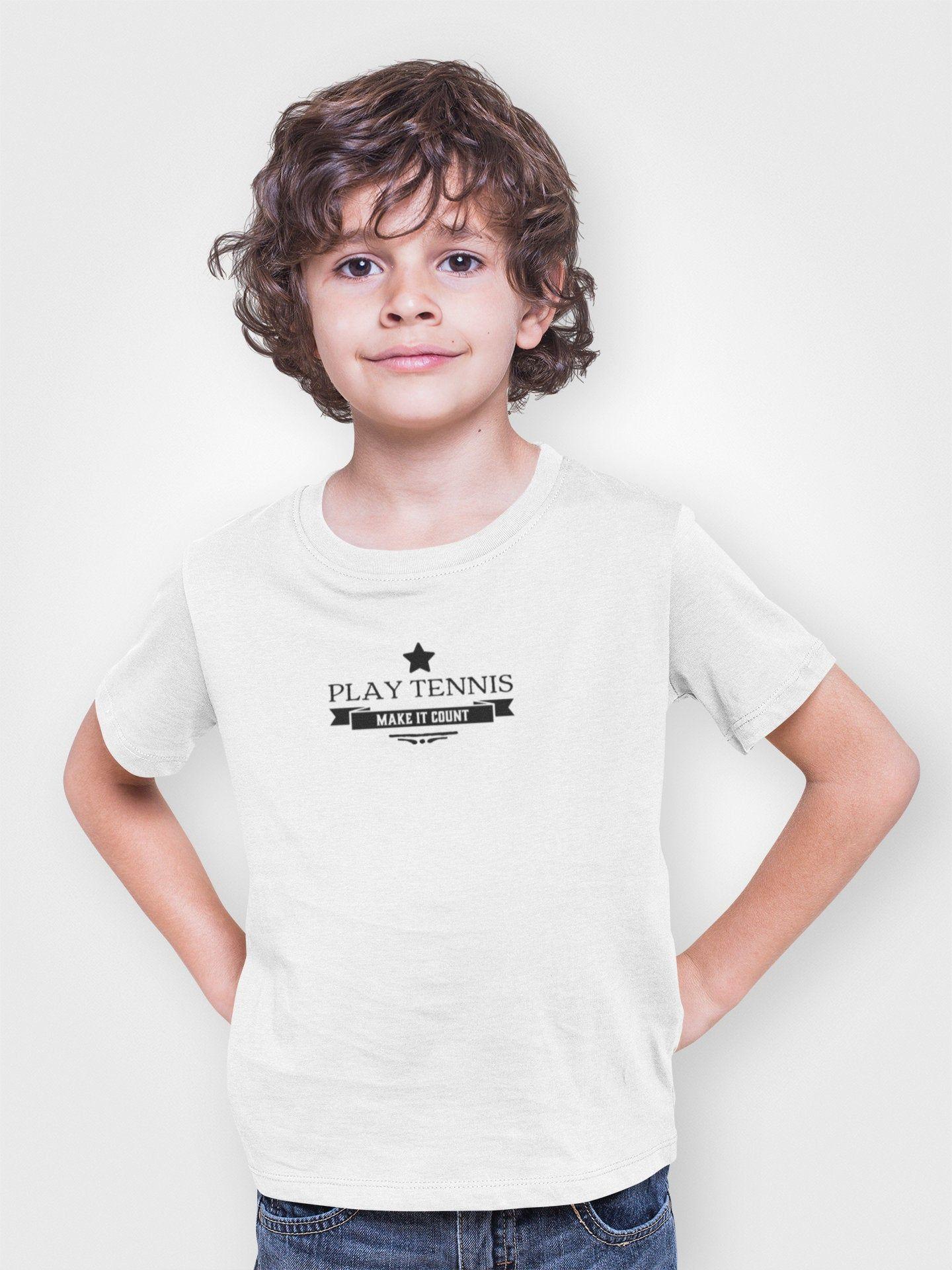 Children Tennis Tshirts Kids Regular Fit Tee Kids Shirt