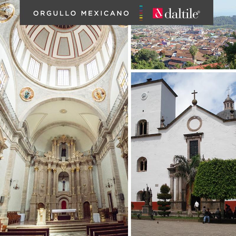 La ciudad de Tacámbaro atrae por su arquitectura tradicional de calles empedradas y casas con techos de teja roja.