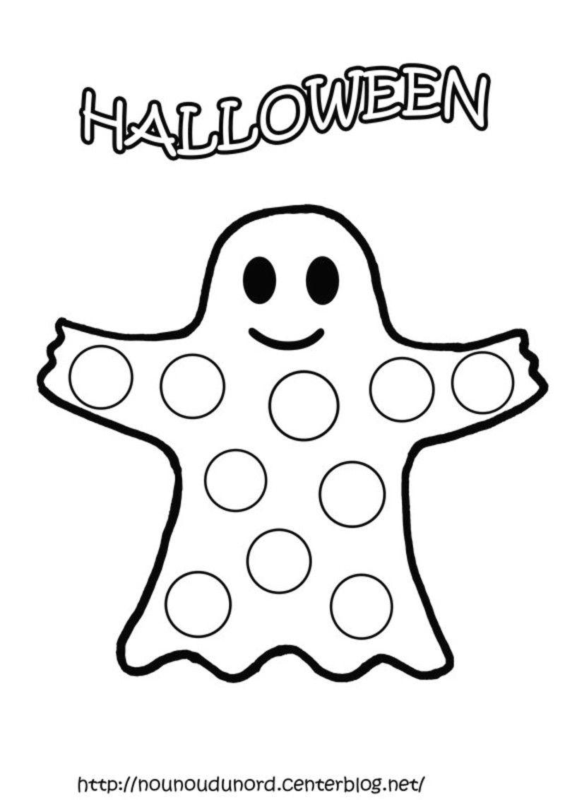 Coloriage Halloween Fantome Plus Déco Automne Halloween
