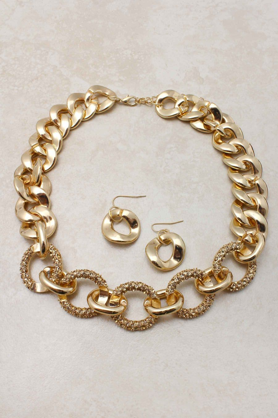 Champagne Jillian Necklace Set | Jewelry | Pinterest | Champagne ...
