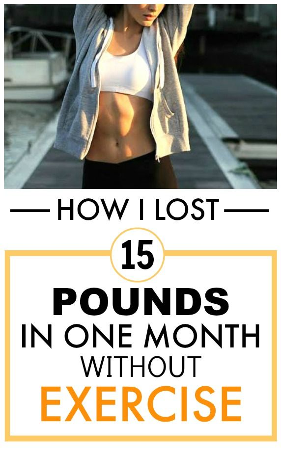 how to lose weight without exercise in 1 month