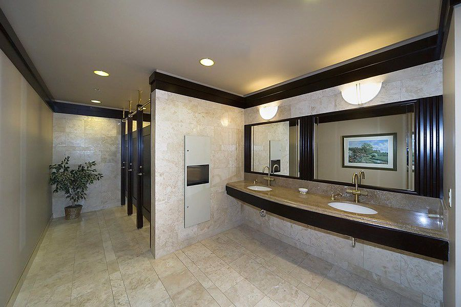 Commercial restroom design ideas 3835 thousand oaks blvd for Industrial bathroom ideas