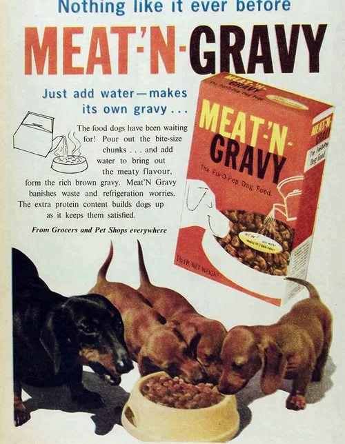 Meat N Gravy The Ful O Pep Dog Food 1962 Dachshund Crate