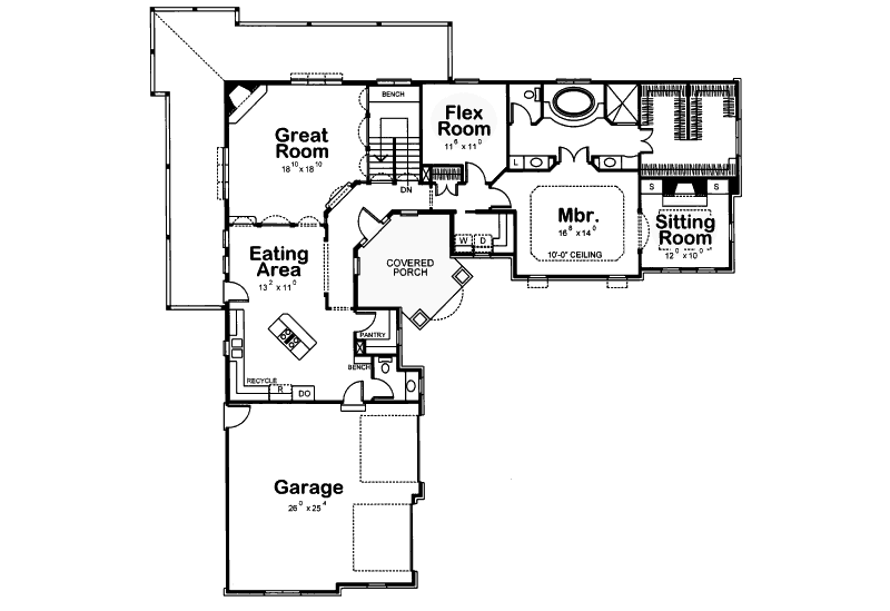 One Story L Shaped Ranch House Plans L Shaped House Plans L Shaped House Garage House Plans