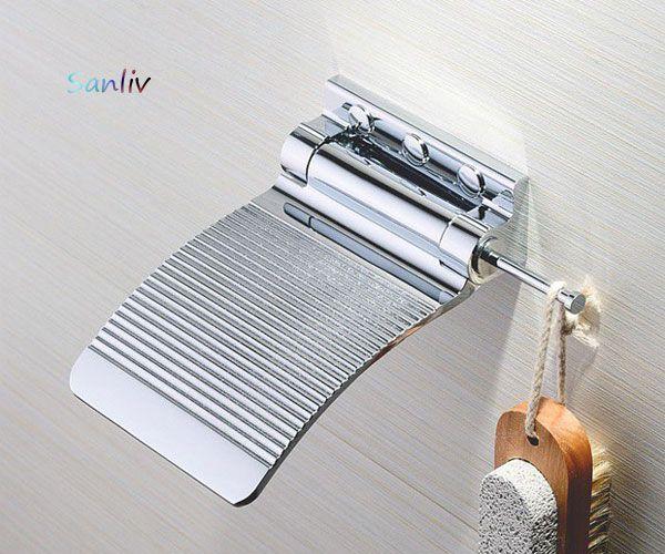 Chrome Shower Fold Up SHAVING FOOTREST or Shaving Ledge by