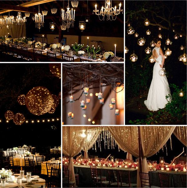 Hanging Lights For Wedding: wedding reception set up*.. on Pinterest | Hanging lights, Receptions and  Outdoor fairy lights,Lighting