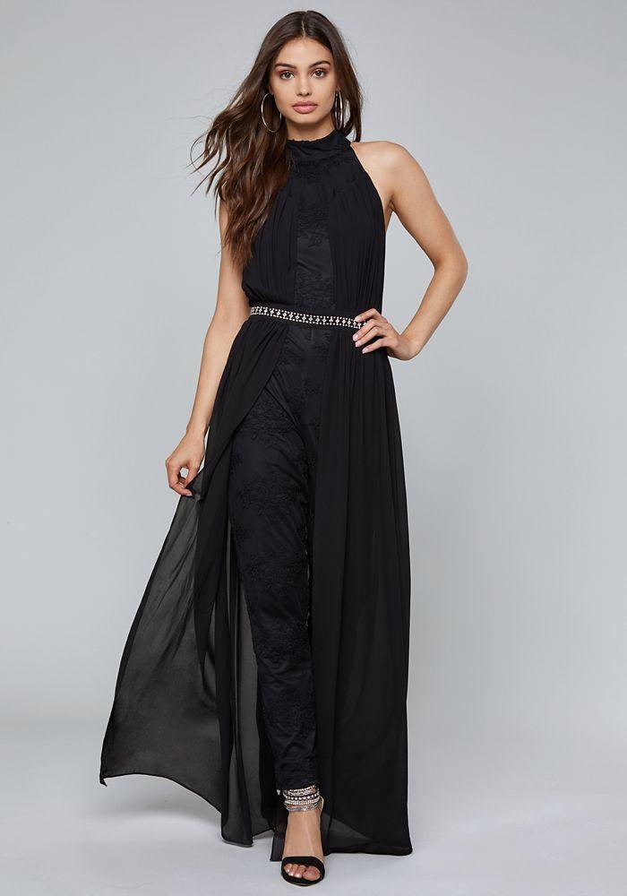 057124820b35 Bebe Women s Skirt Overlay Jumpsuit