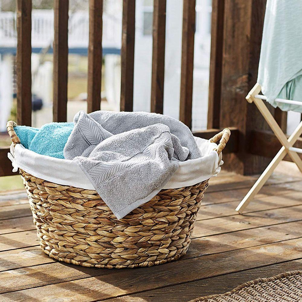 Handwoven Laundry Basket Large Bathroom Laundry Baskets