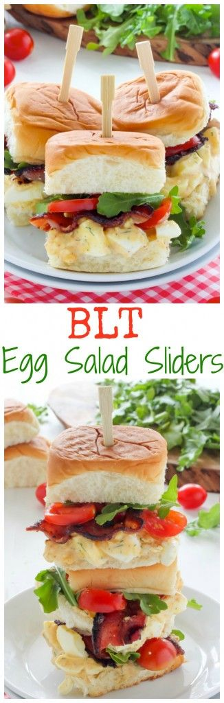 BLT Egg Salad Sliders - quick, easy, SO delicious!
