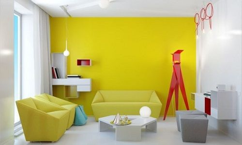 Decoración de Salas en Color Amarillo - Para Más Información Ingresa