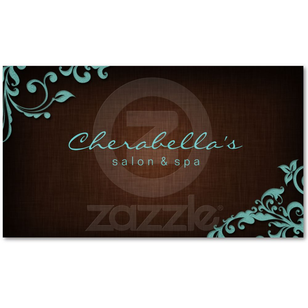 Linen salon spa floral business card brown blue spa pinterest linen salon spa floral business card brown blue from zazzle reheart Image collections