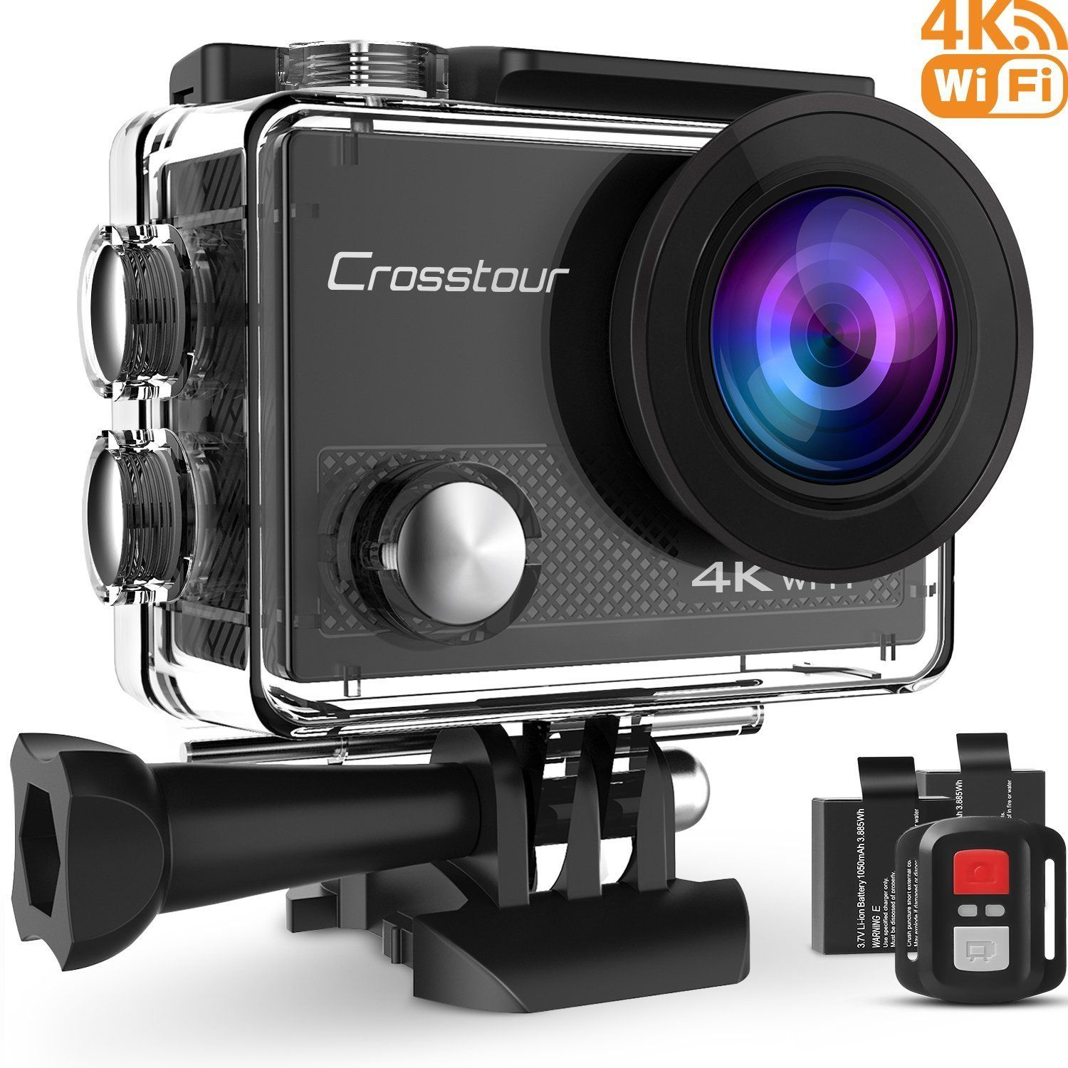 Crosstour Action Waterproof Camera 4K WIFI 16MP Ultra HD with Remote ...
