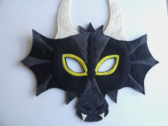 Items similar to Dragon Felt Mask on Etsy