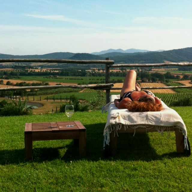 Tanning in Tuscany