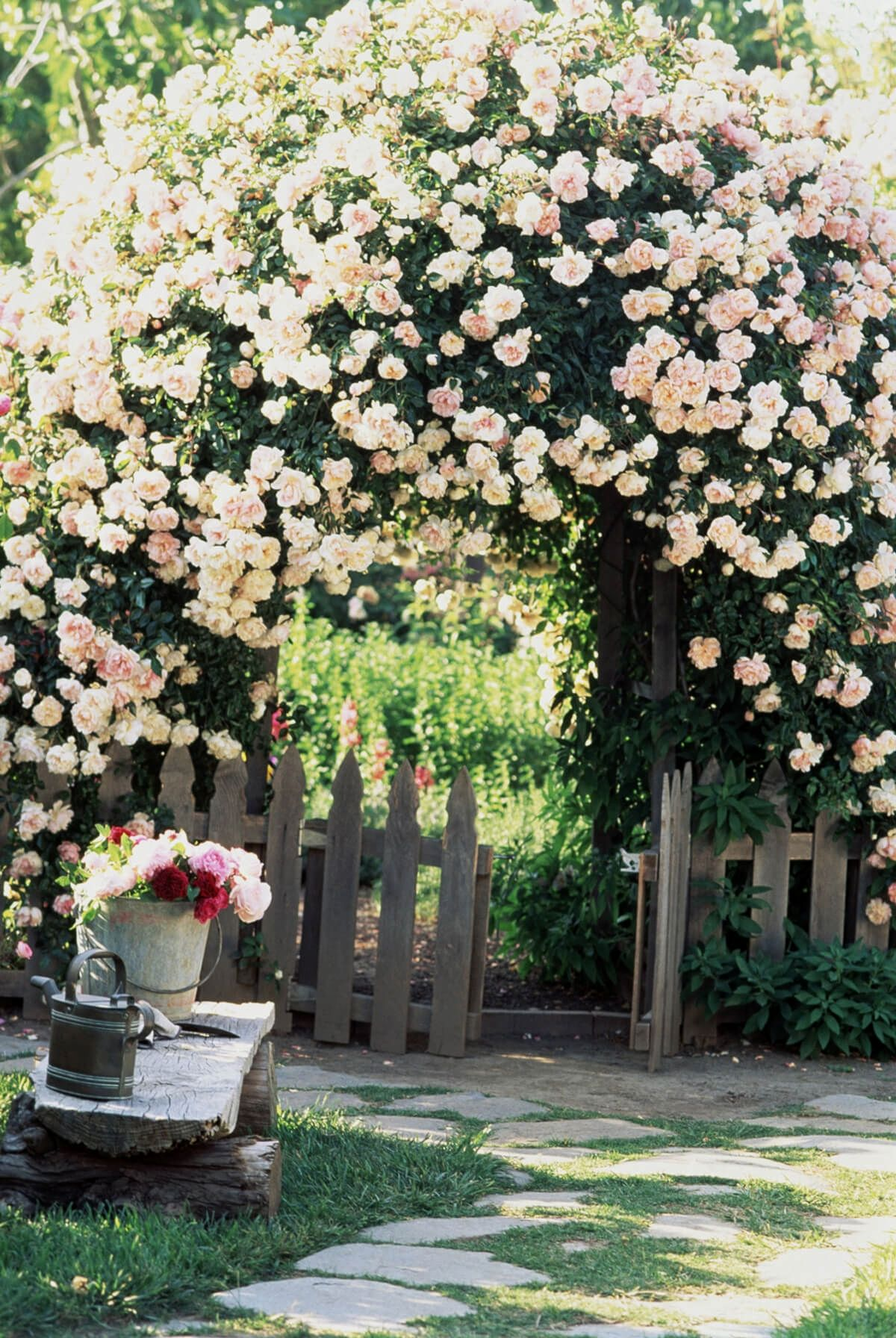 10 Easy Cottage Projects You Can Create To Complement Your Landscape |  Arbor Flower Garden Arc