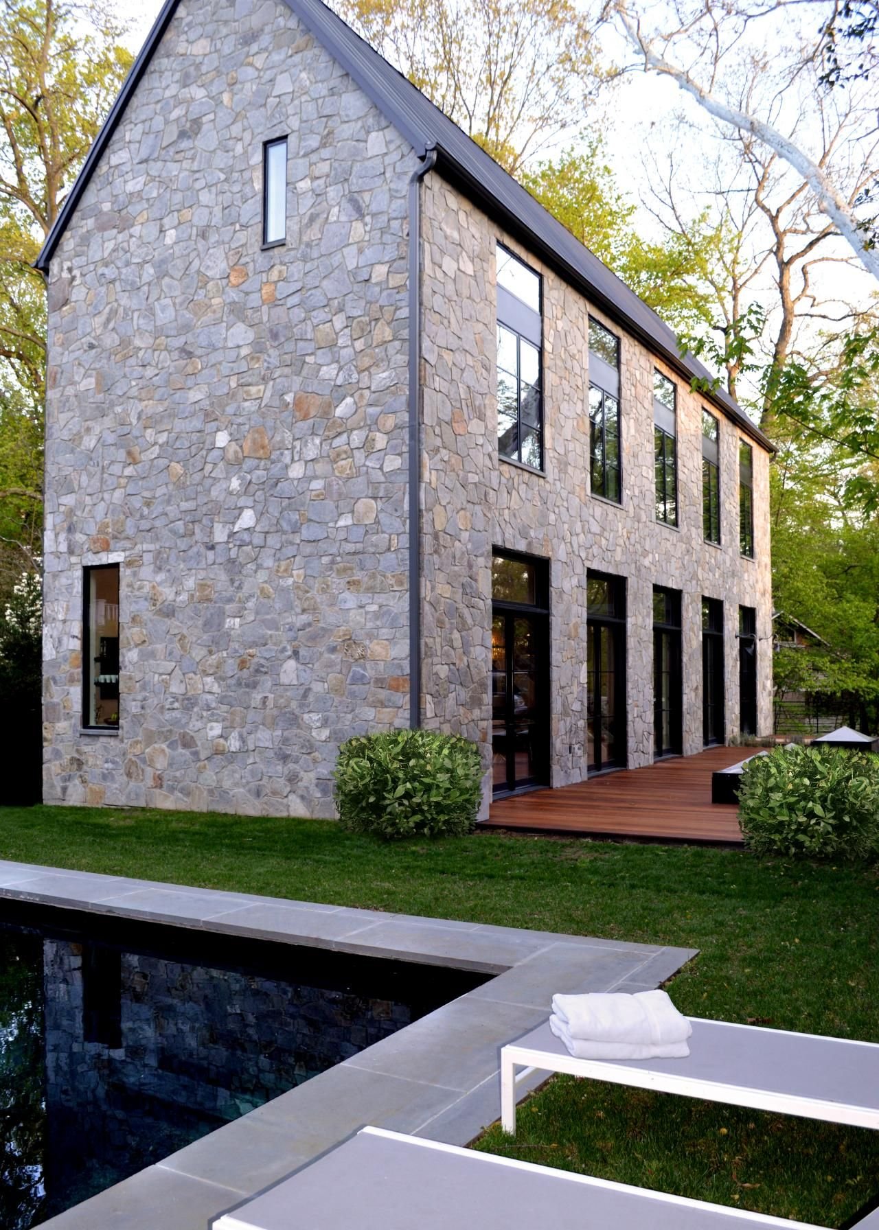 Photos Hgtv Contemporary Stone House Exterior With Gable Roof Cheap Home  Siding Design Tool