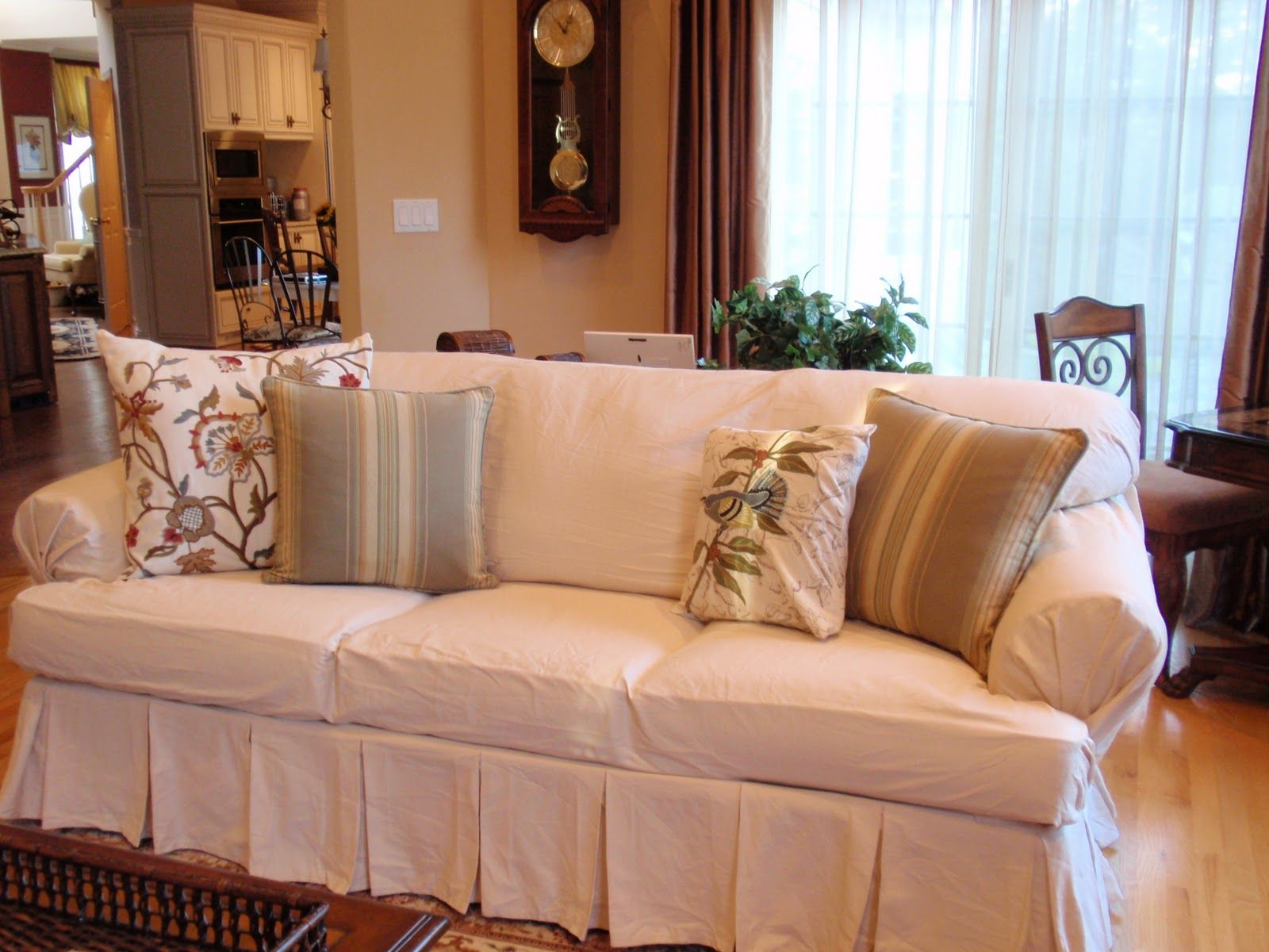 Sure Fit Slipcovers Matelasse Damask One Piece T Cushion   Sofa T Cushion | Living  Room | Pinterest | Damasks, Living Rooms And Sunroom Part 50