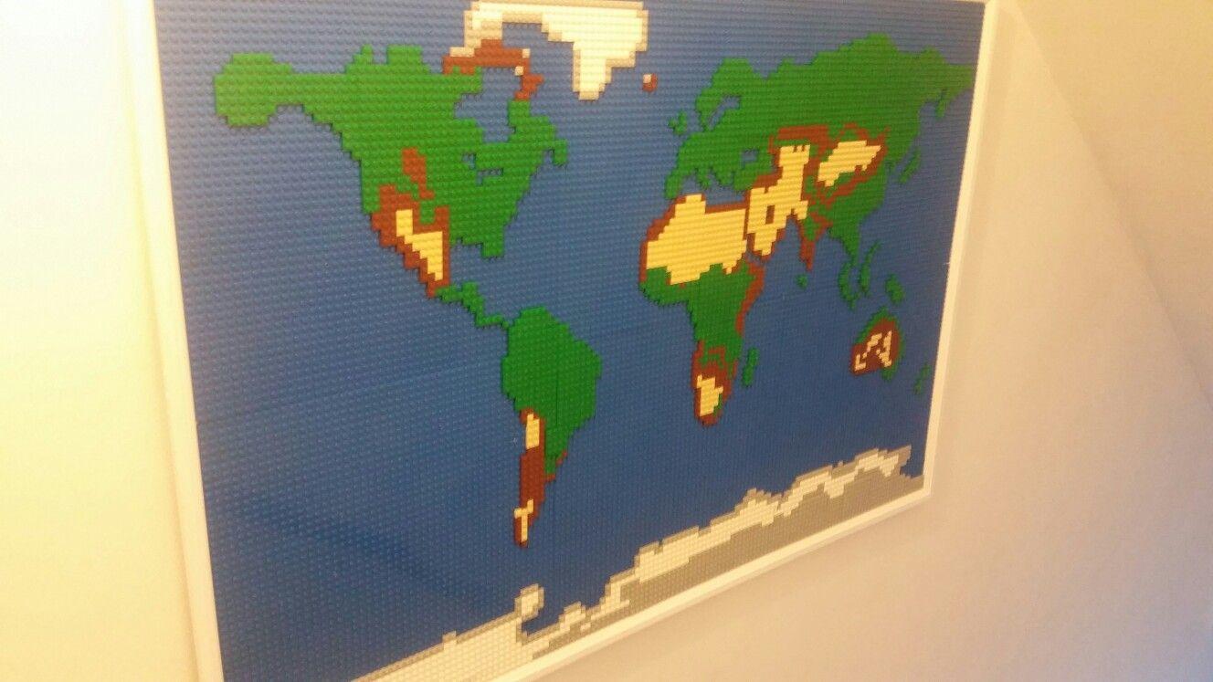 Lego world map decor pinterest legos lego world map gumiabroncs Images