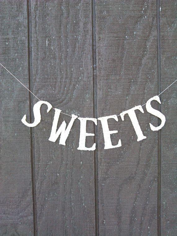Süßigkeiten-Banner Girlande Silber deutsche von thegiftgardenshoppe