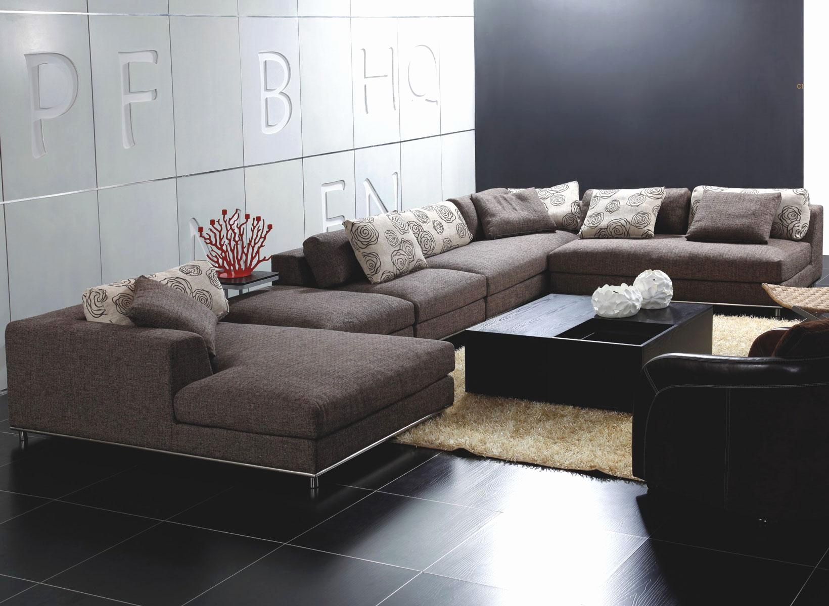 New Contemporary Loveseat Sofas Shot Living Room Sectional Sofa Modern Leather