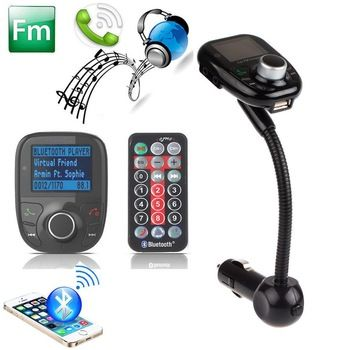 Bluetooth Handsfree FM Transmitter Car Kit MP3 Music
