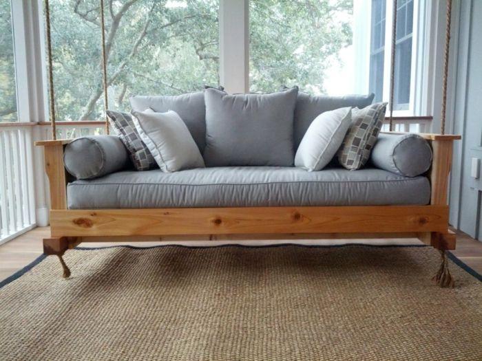 mbel selber bauen schaukelsofa veranda gestalten - Wohnzimmer Sofa Selber Bauen