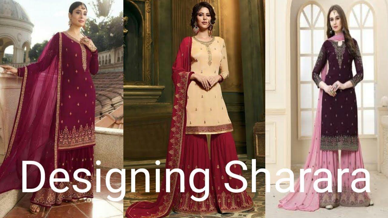 Latest Sharara Designs Collections || New Garara, Sharara dress design f... #shararadesigns