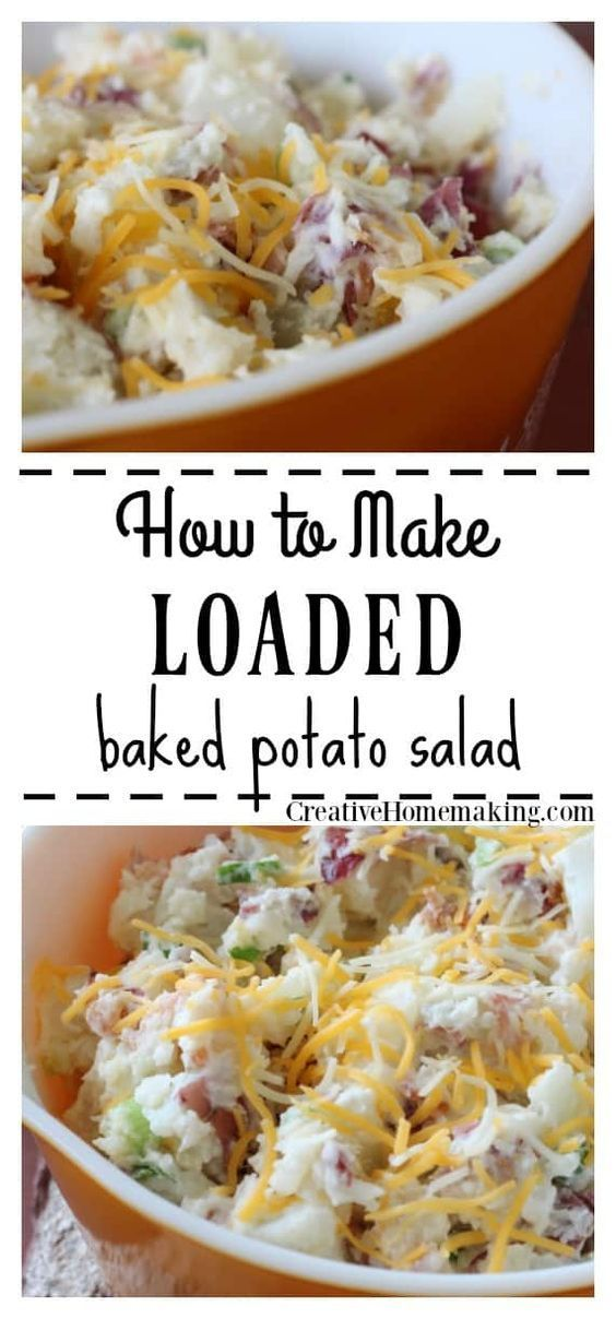 Loaded Baked Potato Salad images