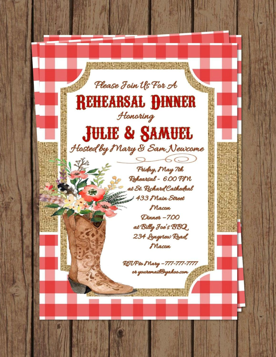 Rehearsal Dinner Western Theme | Bridesmaid BBQ Brunch | Cowboy ...