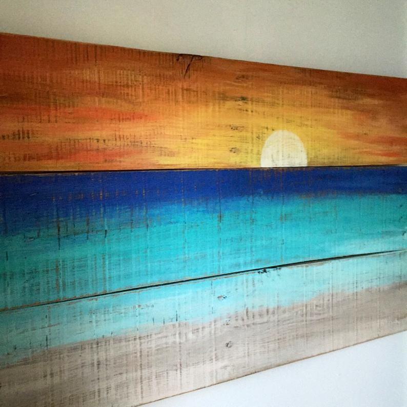 Beach House Decor – Sunset painting