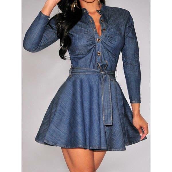 Love this denim dress!